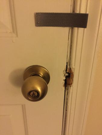 Hawthorn Suites by Wyndham Philadelphia Airport Locked closet door looks like someone tried to break & Locked closet door looks like someone tried to break into it ...