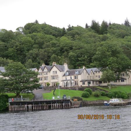 Inversnaid Hotel from Loch Lomond