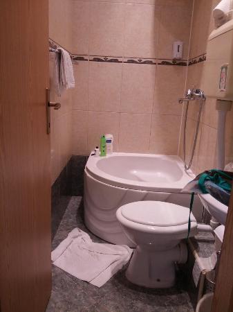 Guesthouse Vrlic: Tv, baño y mancha sábana...