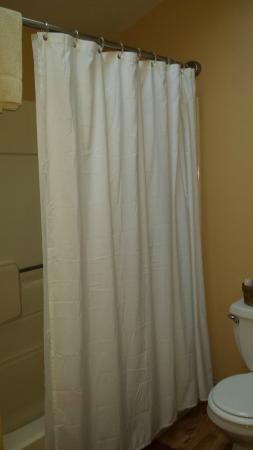 Brookside Cabins: Shower area.