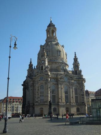 The frauenkirche as seen from j denhof picture of for Hotel dresden frauenkirche