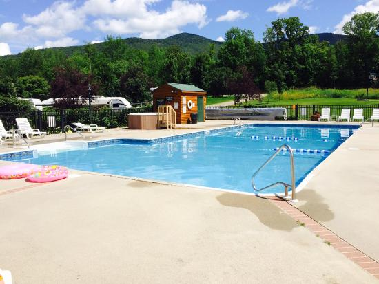 The Lantern Resort Motel and Campground: One of the two pools and hot tubs