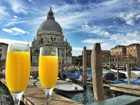 The Westin Europa & Regina, Venice: Breakfast Mimosas at the Westin Europa and Regina Hotel, Venice