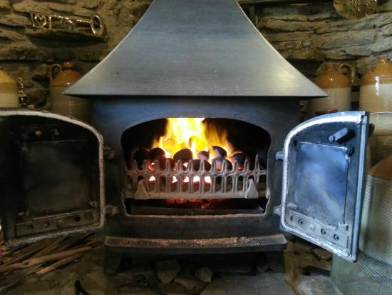 Munslow, UK: One of our lovely Winter fires!