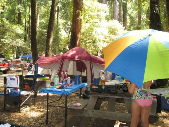 Redwoods River Resort & Campground: Our humble campsite