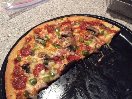 TJ's Take & Bake Pizza Co. : my first vacation meal!