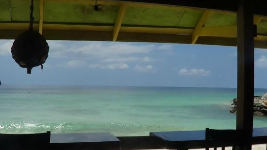 Josiah's Bay: view of the beach from Momzell's Snack Bar