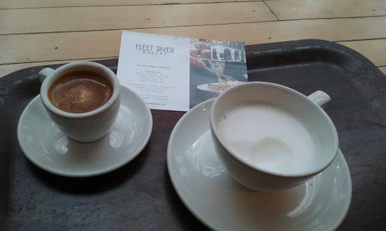 Macchiato And Frothy Milk Picture Of Fleet River Bakery
