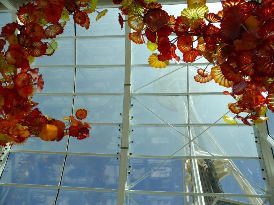 Glasshouse Art With Tower Outside Picture Of Chihuly Garden And Glass Seattle Tripadvisor