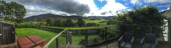 Spittal of Glenshee, UK: View of the back garden and beyond