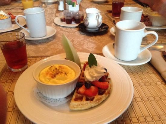 Miscouche, Canada: Breakfast presentation