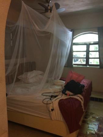 Ecolodge Shalala: mosquitero y buena cama
