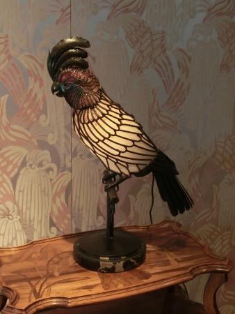 Hida Takayama Museum of Art : エミールガレのオウムのランプ