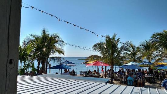 Macky's Bayside Bar & Grill: Looking out at the bay.
