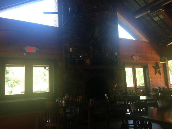 Hawg Wild BBQ & Catfish House : BIG Floor to Cieling Fire Place.