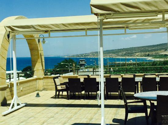 Naqoura, Λίβανος: From Roof top restaurant Reve de la Mer looking towards Tyr