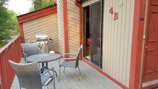 Crestwood Resort : Patio and BBQ