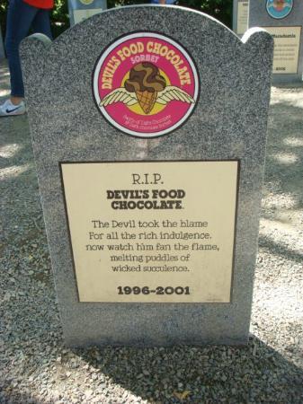 Waterbury, VT: Retired flavor tombstone