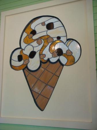 Waterbury, VT: Stained glass ice cream cone