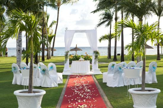 Sugar Beach Mauritius Wedding Setup