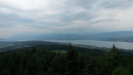 Restaurant Hochwacht Pfannenstiel: Vom Turm: Rapperswil-Zürichsee
