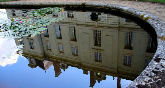 Chateau de Montgeoffroy: Reflet du chateau dans le miroir d'eau . . .
