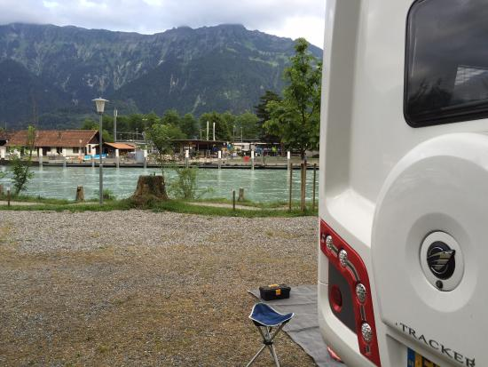 TCS Campsite Interlaken: The view looking into town.
