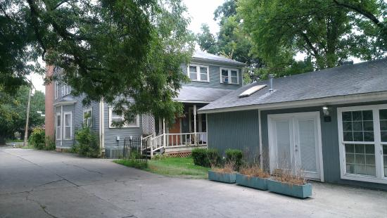 Locust Street Inn: The back of the inn