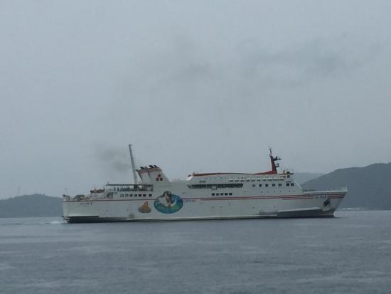 Nishinoshima-cho, Japão: 別府港から船が発っていく様子が見ることができます。