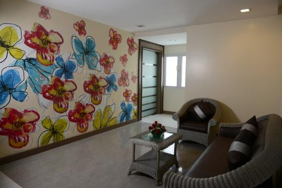 The Lotus Serviced Apartments : Guest floor lounge