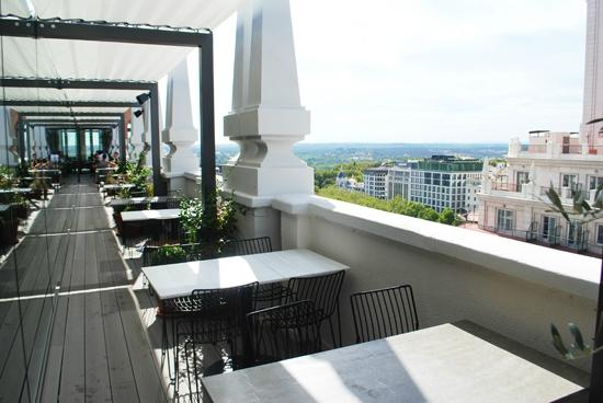 Sky Lounge Picture Of Dear Hotel Madrid Tripadvisor