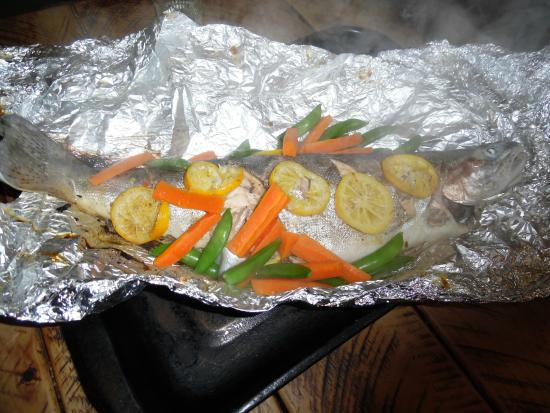 Dragonfly River Guides - Day Tours: Fresh BBQ trout!
