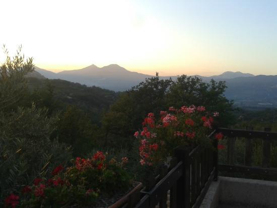 Agriturismo Fiore: tramonto dal nostro terrazzino