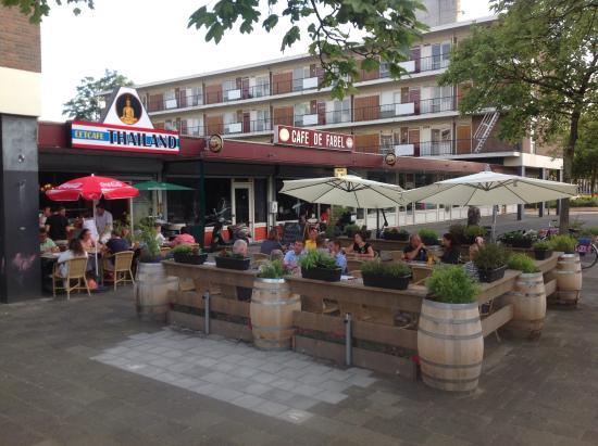 het restaurant met terras foto van eetcafe thailand rotterdam tripadvisor