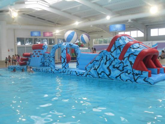 Devon Cliffs Holiday Park - Haven: Fantastic pool complex and inflatable play session
