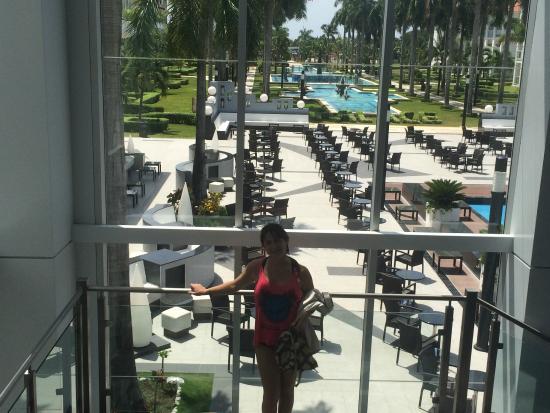 Hotel Riu Palace Mexico: vista desde adentro