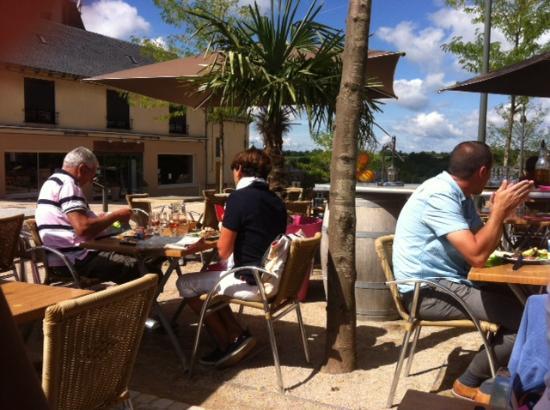 Bozouls, France : la terrasse