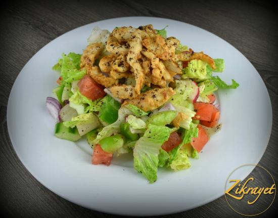 Chicken Shawarma Salad - Picture of Zikrayet, Alexandria - TripAdvisor