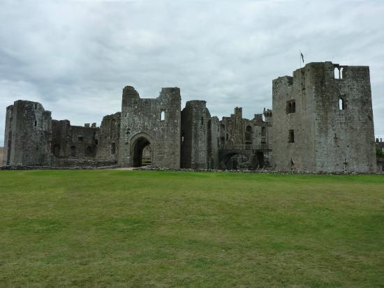 Approach to Raglan Castle