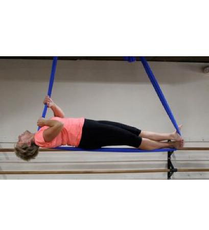 Aloft Aerial Fitness: feeling very alive in coffin pose