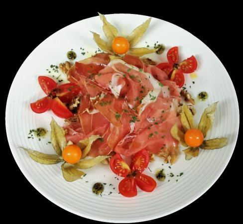 Restaurant la Grange: chiffonnade de jambon serrano