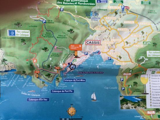 Map Picture Of Calanques Cassis Tripadvisor