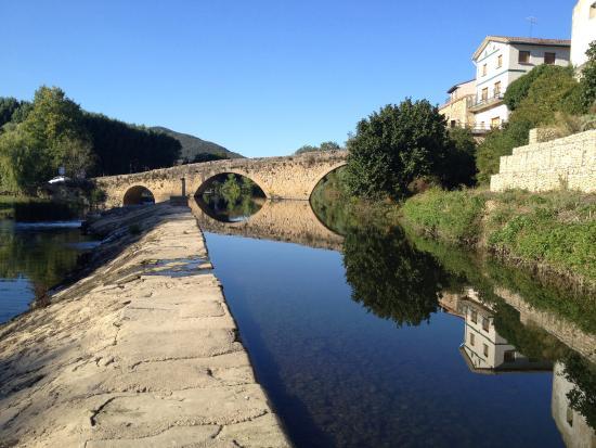 Hotel Arganzon PLAZA : The medieval stone bridge
