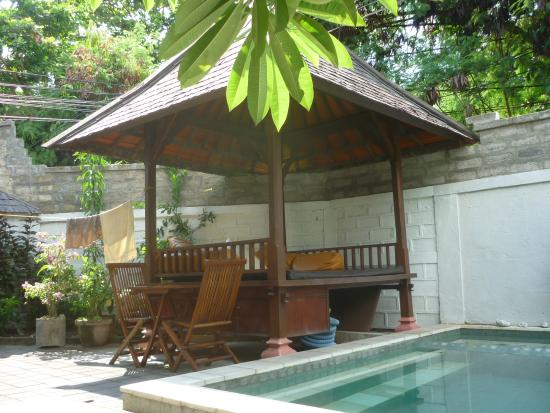 Sunhouse Guest House: the nice wooden cabin next to the pool