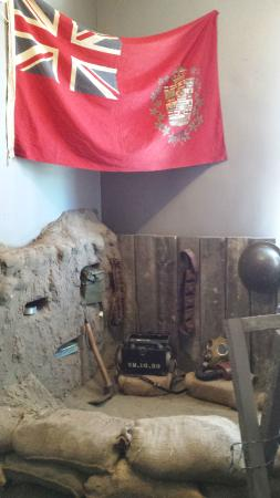 Vanderhoof, Canada: WWI and WWII history room on the second floor of the O.K. Cafe at the museum.