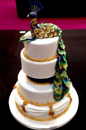 Peacock Wedding Cake Picture Of The Butterscotch Bakery Glasgow Tripadvisor