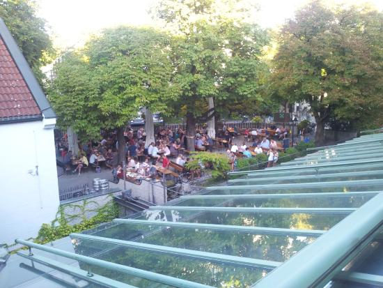 View To Beer Garden Picture Of Hotel Gasthof Zur Muehle Ismaning