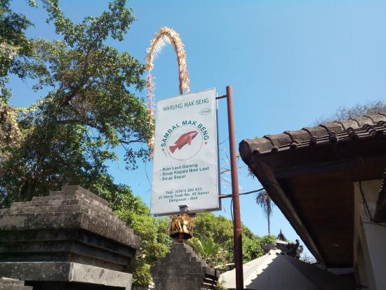Warung Mak Beng, Sanur, Bali.