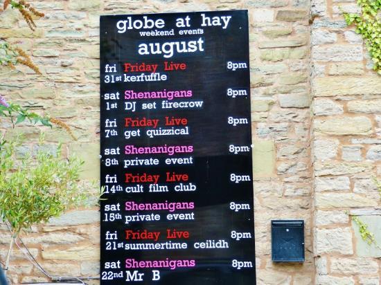 The Globe at Hay: B