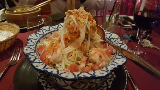 Escale a Saigon : Salade de papaye verte au restaurant Escale à  Saigon